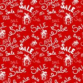 Big sale seamless vector pattern.