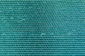 Texture Of Turquoise Reflective Shiny Wall. Shining Green Foil Background. Abstract Glitter Pattern. poster