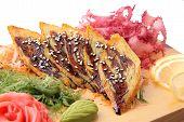 Sashimi Tamago On A Board