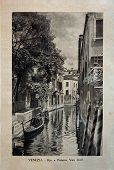 Italy - Circa 1910: A Picture Printed In Italy Shows Image Of Palazzo Van Axel In Venice, Vintage Po
