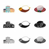 Vector Illustration Of Culture And Sightseeing Symbol. Collection Of Culture And Originality Stock V poster