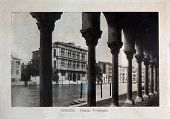 Italy - Circa 1910: A Picture Printed In Italy Shows Image Of Palazzo Vendramin In Venice, Vintage