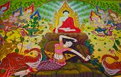 Buddha's Biography: Goddess Of The Earth Protecting The Buddha
