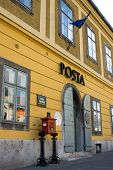 Estilo antigo escritório Postal na Hungria