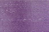 Ribbed Texture Of Purple Reflective Shiny Wall. Shining Pink Convex Foil Background. Abstract Glitte poster