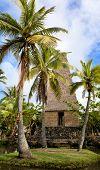 Polynesian Hut On Oahu Island In Hawaii