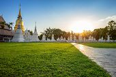 Wat Suan Dok Is A Buddhist Temple (wat) Is A Major Tourist Attraction In Chiang Mai,thailand. poster