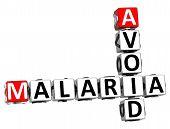3D Avoid Malaria Crossword Text