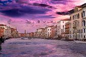Sunset At Venice In Vanilla Sky