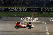 Ayrton Senna in 1991 San Marino Formula 1 Gran Prix