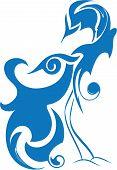 Blue Bird Of Happiness, Birds Of Paradise, Abstract Stylized Bird
