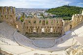 The Odeon of Herodes Atticus on the south slope of the Acropolis in Athens, Greece. c 161 AD.  The c