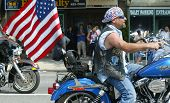 NEW YORK - MAY 29:  Motorcycle parade goers participate in the Little Neck/Douglaston Memorial Day Parade May 29, 2006 in Queens, NY.