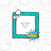 Cartoon Art Styles. Decorative Comic Vector Template Frames. Those Photo Frames You Can Use For Kids poster