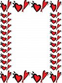 Red And Black Heart Border For Valentines