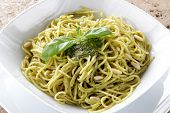 spaghetti whit pesto genovese