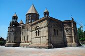 stock photo of apostolic  - The Mother Cathedral of Holy Etchmiadzin one of the oldest churches in the world Echmiadzin Armenia - JPG