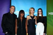 LOS ANGELES - JAN 7:  Nigel Barker, Naomi Campbell, Karolina Kurkova and Coco Rocha attends the NBCUniversal 2013 TCA Winter Press Tour at Langham Huntington Hotel on January 7, 2013 in Pasadena, CA