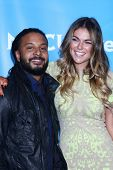 LOS ANGELES - JAN 7:  Brandon Jay McLaren, Serinda Swan attends the NBCUniversal 2013 TCA Winter Pre