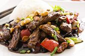 chinese beef in spicy sauce