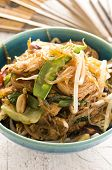stir -fried noodles with beef and vegetables