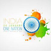 indian flag vector creative design