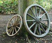 Wooden Cart Wheels.