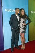 PASADENA, CA - JAN. 7: Terrence Jenkins und Giuliana Rancic erreichen die NBCUniversal 2013 Winter P
