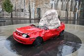 Sydney Crushed Car Sculpture
