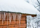 House Roof Icicles