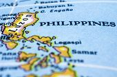 picture of southeast  - close up of Philippines on Map - JPG
