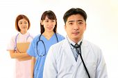 Asian medical staff