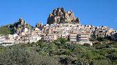 rock village of sicilian hinterland, Italy