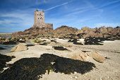 Seymour Tower offshore the channel island of Jersey, UK