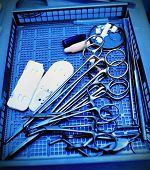 Surgical Instruments. Medical Concept. Stylized Photo.