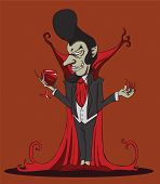 stock photo of dracula  - Create cartoon Count Dracula - JPG