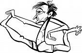 Man In Yoga Position Cartoon
