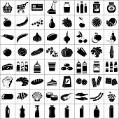 pic of grocery cart  - Image set of icons dedicated to the supermarket - JPG