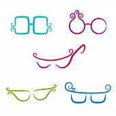 Set Of Vector Glasses