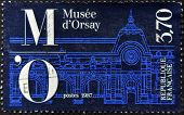 France - Circa 1987: A Stamp Printed In France Shows Orsay Museum, Circa 1987