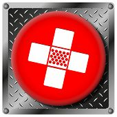 Medical Patch Metallic Icon