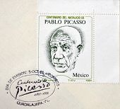 Mexico - Circa 1981: A Stamp Printed In Mexico Shows Pablo Picasso, Circa 1981