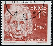 Sweden - Circa 1981: A Stamp Printed In Sweden Shows Albert Einstein, Circa 1981.