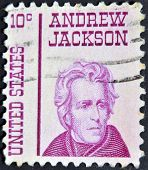 UNITED STATES - CIRCA 1965: stamp printedin USA shows Andrew Jackson circa 1965