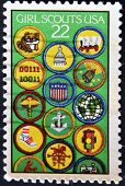 United States Of America - Circa 1987: A Stamp Printed In Usa Devoted To Girl Scouts, 75Th Anniv., C