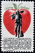 Usa - Circa 1950: A Stamp Printed In Usa Shows Image Of The Dedicated To The Johnny Appleseed