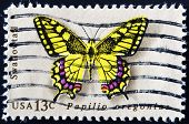 United States - Circa 1977: Stamp Printed In Usa Shows Butterfly Swallowtail, Circa 1977
