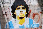 Diego maradona graffiti