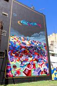 Street art in La Boca neighborhoods