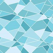 Vector Seamless Geometric Blue Polygonal Pattern - Abstract Background